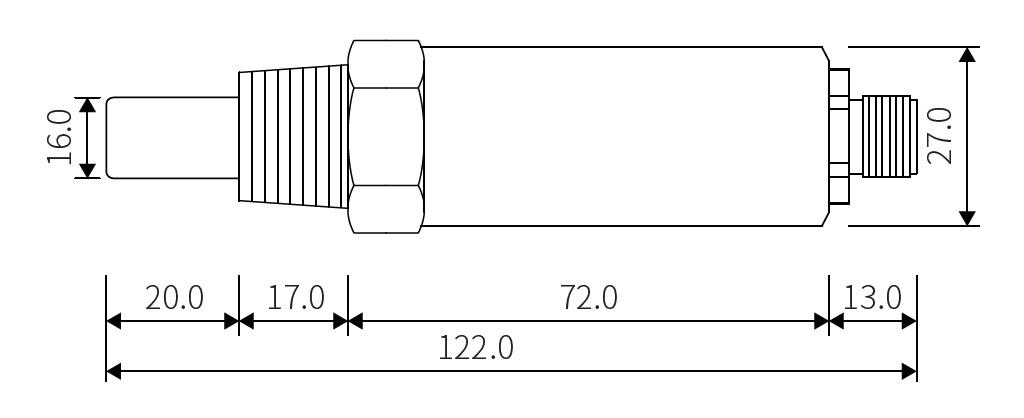 dew-point-transmitter-dimesions-PT-G-thread