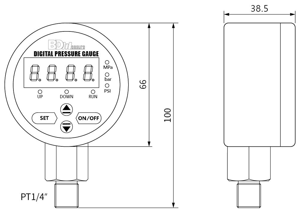 digital-pressure-gauge-dimensions