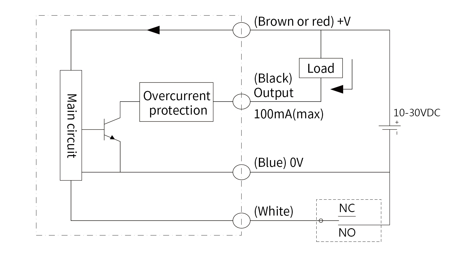 optical-liquid-level-switch-polysulfone-wiring-diagram-npn-open-collector-output