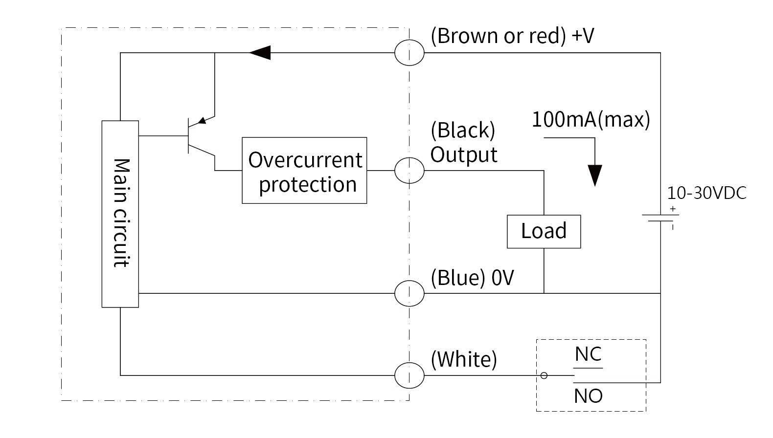optical-liquid-level-switch-polysulfone-wiring-diagram-pnp-open-collector-output