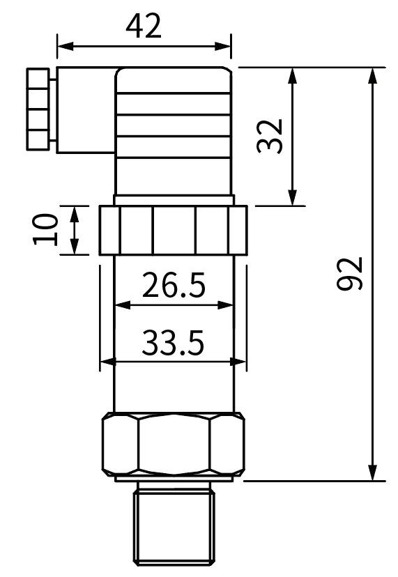 pressure-transmitter-dimensions